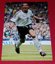 FREDI BOBIC GERMANY HAND SIGNED 12X8 AUTOGRAPH PHOTO SOCCER