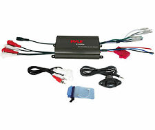 PLMRMP3B PYLE 4 Channel 1200 Watt BOAT ATV MOTORCYCLE AMPIFIER KIT w 3.5mm Input