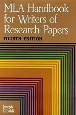 MLA Handbook for Writers of Research Papers by Joseph Gibaldi (1995,...