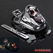 Motorcycle Skull Skeleton Taillight Integrated Brake Light For Softail Sportster