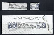 GREENLAND 2003 LITERARY EXPEDITION joint issue VF MNH set plus souvenir sheet