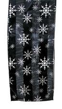 SCARF Winter Christmas Holidays Black & White Snow Flakes SNOWFLAKES