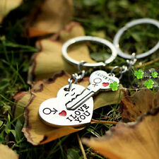 """I Love You"" Heart Arrow Keychain Couple Key Chain Ring Keyring Keyfob Love Gift"