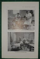 1916 WWI WW1 PRINT ~ DISCHARGED SOLDIERS SHOE REPAIRING ORTHOPAEDIC HOSPITAL