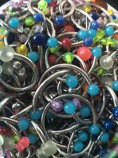Wholesale 100+ Body Jewelry Tongue Belly Lip Eyebrow Barbell Rings Stud Piercing