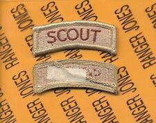 US ARMY SCOUT Desert DCU TAB patch m/e