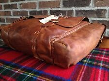 VTG. 1970's BRITISH TAN DISTRESSED BASEBALL GLOVE LEATHER GYM DUFFLE BAG R$895