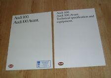 Audi 100 Saloon & Avant  Brochure 1984-1985 - 1.8 2.2 CD 1.8 Turbo Diesel