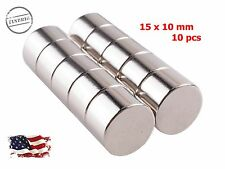 10pcs 15 mm x 10 mm Super Strong Disc Magnets Rare Earth Neodymium Magnet N52