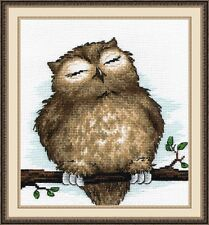 "Counted Cross Stitch Kit OVEN - ""Sleeping Owl"""