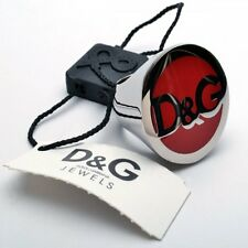 NEW DOLCE AND GABBANA D&G RED SEAL RING SIZE U 1/2