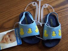 NWT CARTER'S LIGHT BLUE DUCKIE SANDALS INFANT SIZE 2 ~ 3-6 MO Free US Shipping