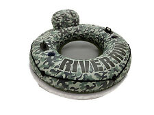 Intex River Run I Camo Inflatable Floating Tube Raft with Cup Holders | 58835EP