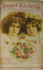 Sweet Sisters Strawberry Jam Fruit Farm Rustic/Vintage Metal Sign