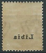 1912-15 LIBIA AQUILA 1 CENT DECALCO MNH ** - T22