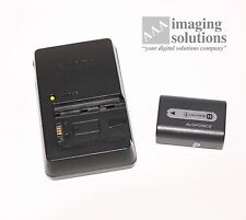 "SONY ALPHA InfoLithum Battery - NP-FH50 & Charger - BC-VH1 ""Used works fine"""