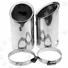 Pair of Stainless Steel Tip Pipe Exhaust Tail For VW CC EOS 06-12 PASSAT B6