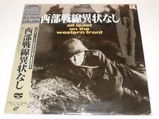 LaserDisc ~All Quiet on the Western Front~Japanese NTSC~+ OBI~*Promotional Item*