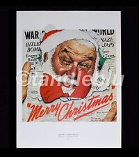 "Norman Rockwell MERRY CHRISTMAS SANTA CLAUS 12/26/1942 Print 11"" x 15"""