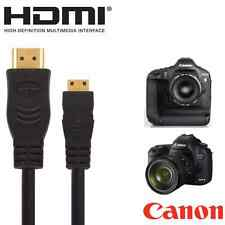 Canon Powershot SX60, SX510, SX520 HS, EOS 7D MII Camera HDMI Mini TV 2.5m Cable