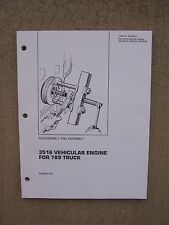 1987 Caterpillar 3516 Vehicular Engine 789 Truck Disassembly Assembly Manual  T