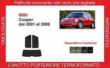 pellicola oscurante vetri Mini cooper dal 2001-2006 kit post termoformato