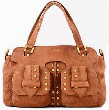 NWT BOTKIER WEST WAY VINTAGE LEATHER SATCHEL W SHOULDER STRAP NUTMEG BROWN $448