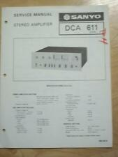 Original Service Manual for the Sanyo DCA 611 Amplifier  mp