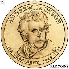 2008 D PRESIDENT ANDREW JACKSON UNCIRCULATED PRESIDENTIAL DOLLAR  #7D