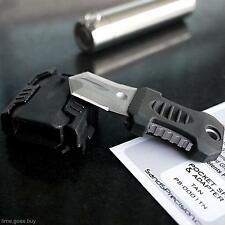 Mini Pocket Outdoor Survival Tool Emergency Gear Cutter Knife Webbing Buckle Kit