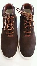 Polo Ralph Lauren Men's Zale Suede High-Top Sneakers Brown Size 7 eu 41