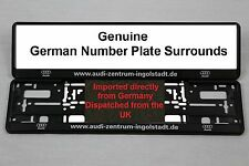 AUDI INGOLSTADT- ZENTRUM NUMBER PLATE SURROUNDS Pair
