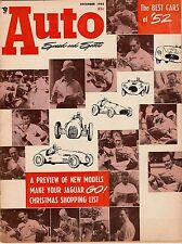 DECEMBER 1952 AUTO SPEED AND SPORTS MAGAZINE WATKINS GLEN AND 1952'S BEST CARS