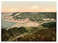 4 Victorian Views Jersey Greve de Lecq Noirmont Point Plemont Caves Needle Rock