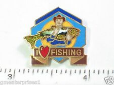 I Love Fishing Fish Pin Fish Pin Badge