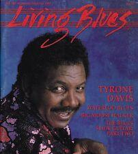 LIVING BLUES MAGAZINE NUMBER 105 SEPT/OCT 1992 TYRONE DAVIS BIG MOOSE WALKER