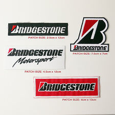 BRIDGESTONE TYRES Team Sponsorship Patch Set of THREE Patches - FREE POST