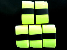 5 Fluro Yellow Replacement Overgrips over grip tennis Wilson Babolat Prince Head