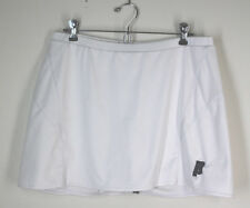 PRINCE White Gray SKORT Stretch Tennis Skirt  Size Large