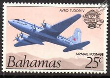 BSAA AVRO Type 688 TUDOR IV Airliner Aircraft Stamp (1983 Bahamas)