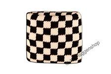 Sweatband Flag Flag Check Black White 7x8cm Bracelet for Sports