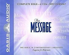 Message Bible by Eugene H. Peterson (2008, MP3 CD, Unabridged)