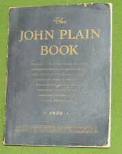 1932 JOHN PLAIN Catalog Mickey Mouse Toys Dolls Watches Jewelry Collectors L@@K