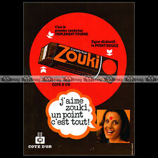 ZOUKI Côte d'OR 1976 Vintage Chocolate Candy Bar - Pub Publicité / Ad #A706
