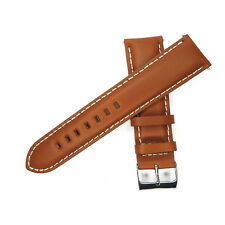 16mm 18mm 20mm 22mm 24mm Watch Band Genuine Leather Strap Black Brown Women Mens