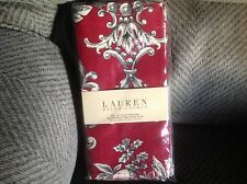 "4 LAUREN Ralph Lauren cloth 20""square Hayley Red Napkins New"