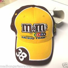 VINTAGE NASCAR ELLIOTT SADLER M&M'S YELLOW FITTED  HAT CAP NEW W/TAG CHASE 2003