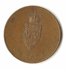Canada Confederation token, 1867 - 1967, large brass token, maple leaf