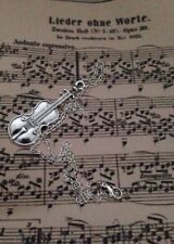 VIOLIN Pendant Charm NECKLACE SHERLOCK INSPIRED Music