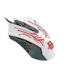 CLiPtec 2400DPI LED Optical Mice Adjustable Gaming Mouse For Laptop PC White